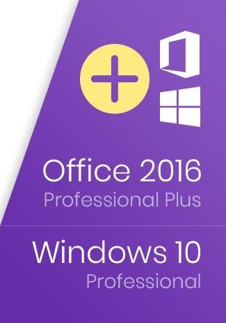 Windows 10 Pro Key + Office 2016 Professional Plus Key - Package