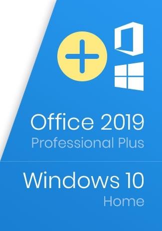 Windows 10 Home Key + Office 2019 Professional Plus Key - Package