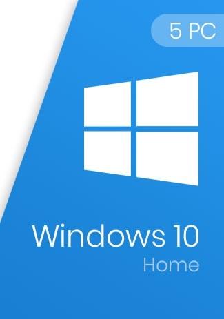 Windows 10 Home Key 32/64-Bit (5 PCs)