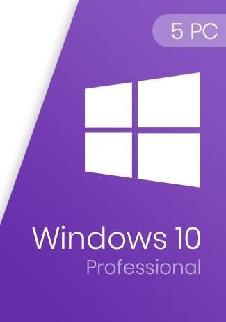 Windows 10 Pro Professional Key 32/64-Bit (5 PCs)